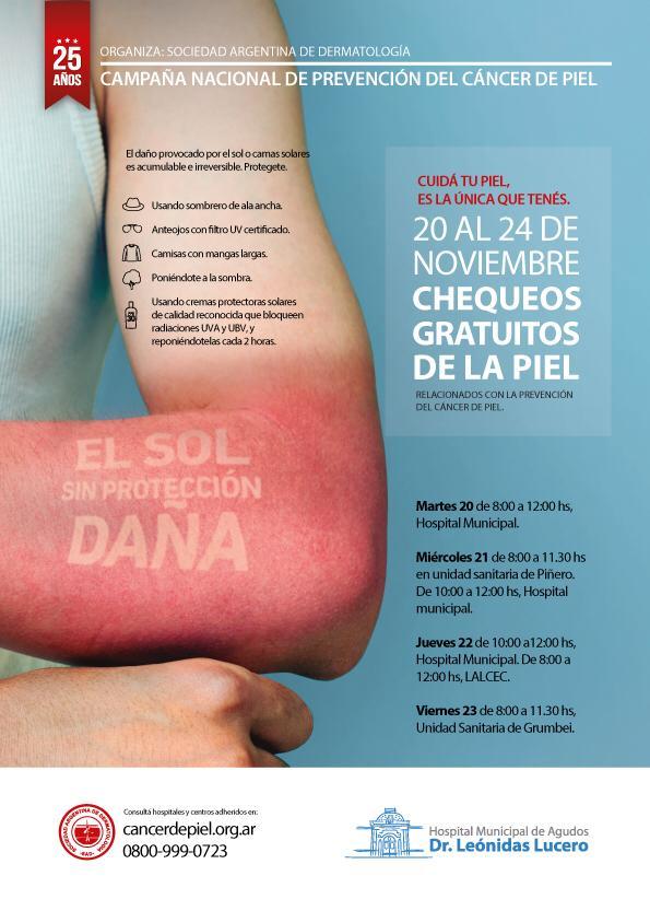 Campaña cancer de piel